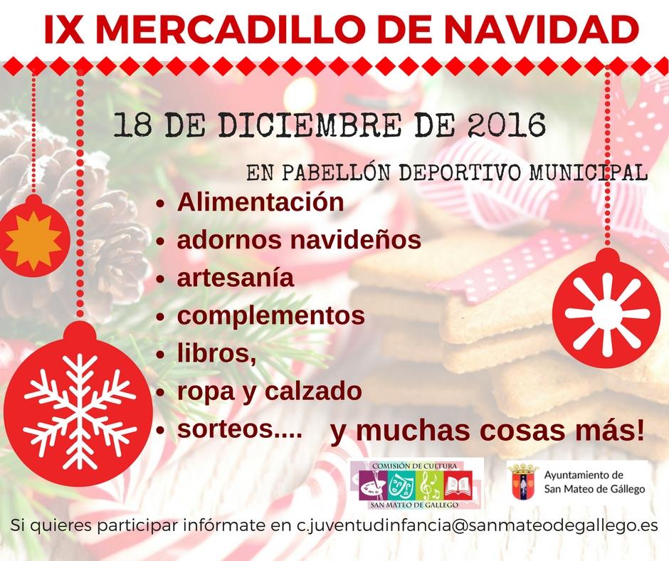ix mercadillo de navidad web ayuntamiento de san mateo