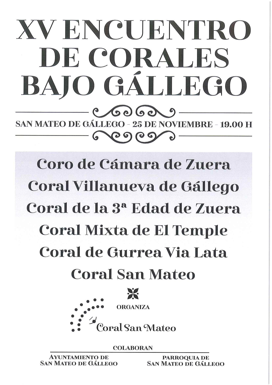 Xv encuentro de corales bajo gallego web ayuntamiento de - El tiempo en san mateo de gallego ...