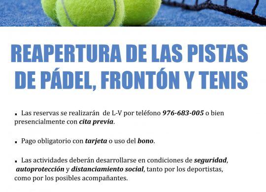 reapertura padel y tennis